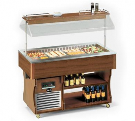Салат-бар холодильный островной Apach ABR6 ISOLA - 17758
